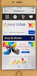 order ink or toner cartridges on mobile device