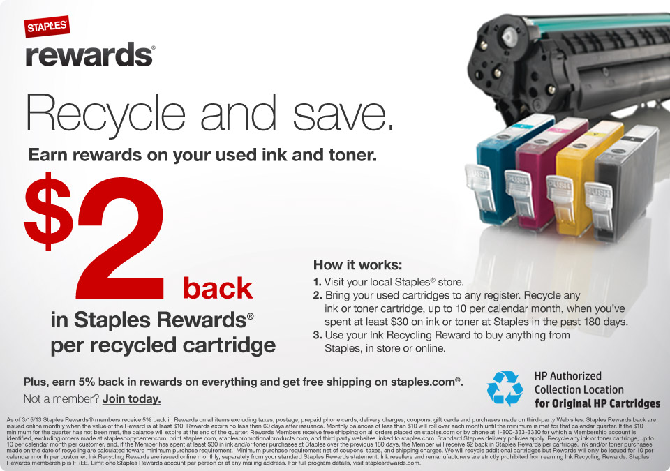 Recycle Ink Cartridges and Toner