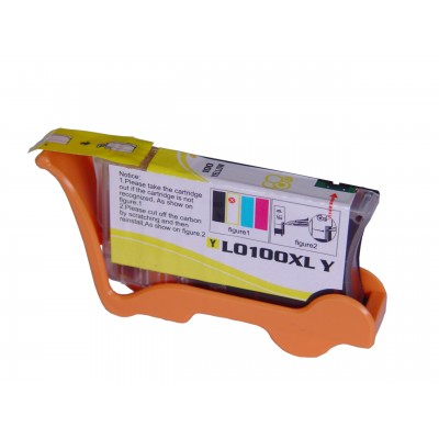 Compatible Lexmark 14N1071 (No. 100XL) high yield yellow ink cartridge