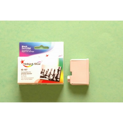 Compatible Epson S020187 black inkjet cartridge