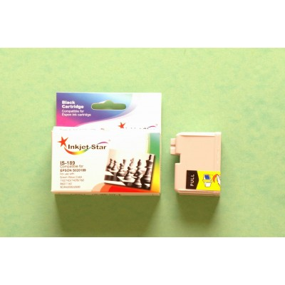 Compatible Epson S020189 black inkjet cartridge