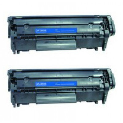 Compatible HP Q2612X (HP 12X) high yield black laser toner cartridge (2 pieces)