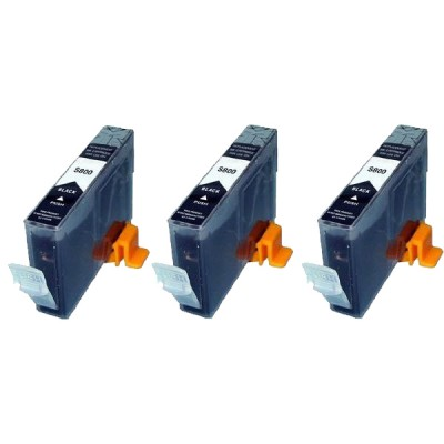 Compatible Canon BCI-6BK black ink cartridge - 3 pieces