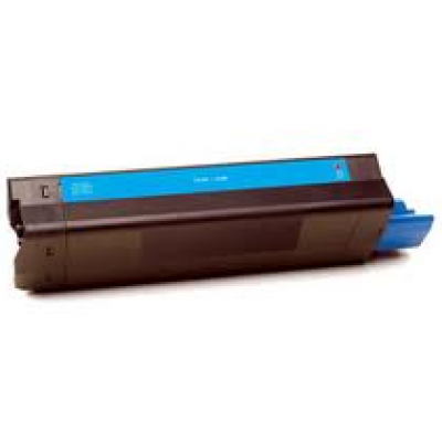 Compatible Okidata 42127403 high yield cyan laser toner cartridge