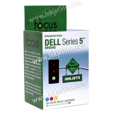 Remanufactured Dell M4646 color ink cartridge