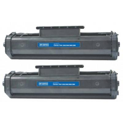 Remanufactured Canon FX3 black laser toner cartridge - 2 pieces
