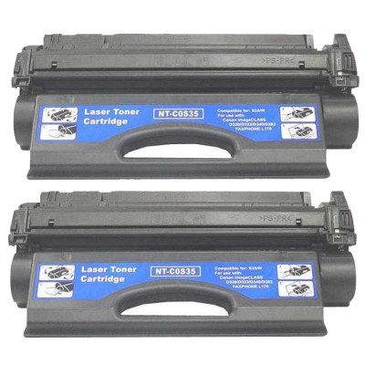 Remanufactured Canon S35 black laser toner cartridge - 2 pieces