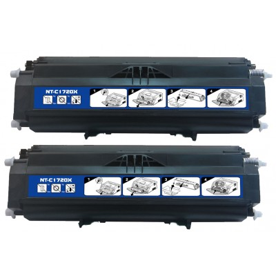 Remanufactured Dell 310-8707 (310-8709, GR332, PY449) high yield black laser toner cartridge (2 pieces)
