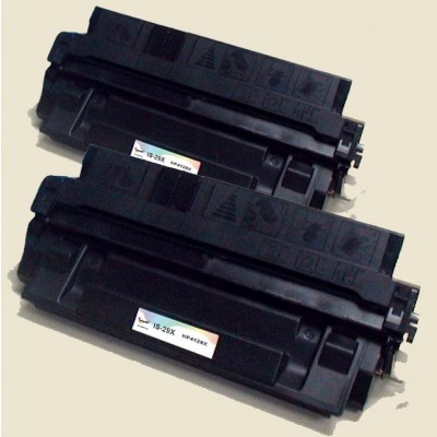 Remanufactured HP C4129X (HP 29X) black laser toner cartridge (2 pieces)