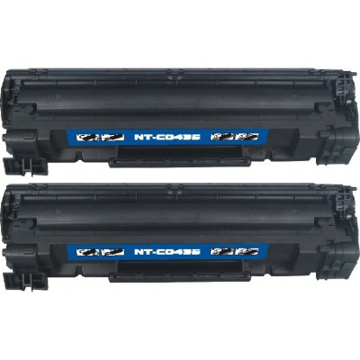 Compatible HP CB435A (HP 35A) black laser toner cartridge (2 pieces)