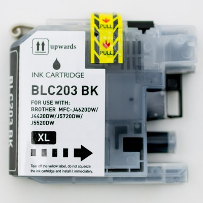 Compatible Brother LC203BK High Yield Black ink cartridge