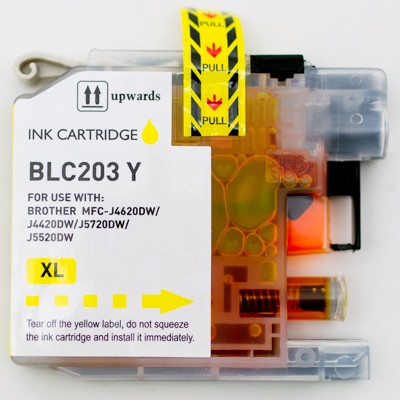 Compatible Brother LC203Y High Yield Yellow ink cartridge