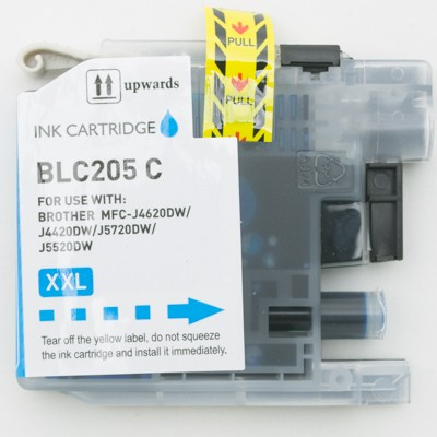 Compatible Brother LC205C Super High Yield Cyan ink cartridge