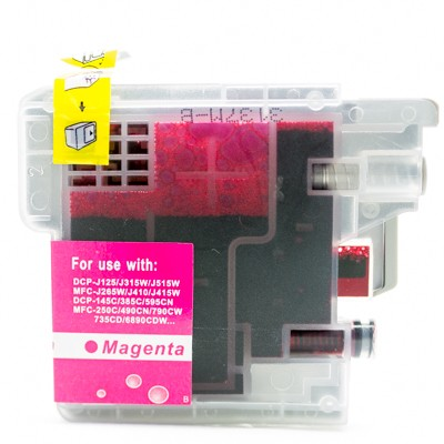Compatible Brother LC75M magenta ink cartridge