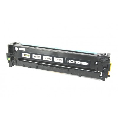 Remanufactured HP CE320A (HP 128A) black laser toner cartridge