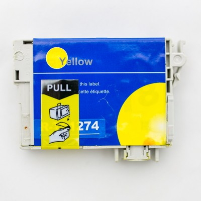 Remanufactured Epson T127420 (T1274) high yield yellow ink cartridge