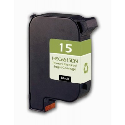 Remanufactured HP C6615D (No. 15) black ink cartridge