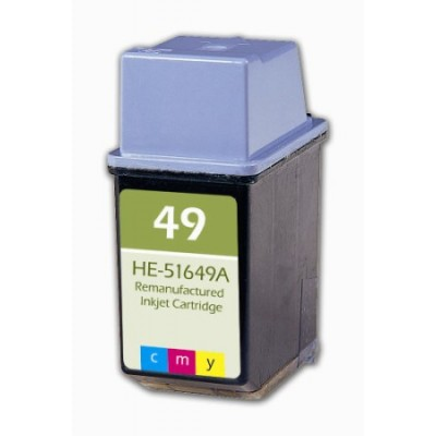 Remanufactured HP 51649A (No. 49) color ink cartridge