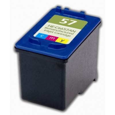 Remanufactured HP C6657 (No. 57) color ink cartridge