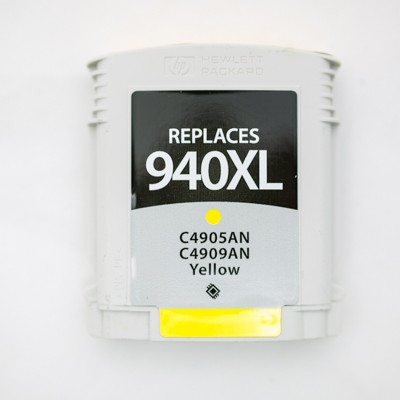 Remanufactured HP C4909AN (HP 940XL) high yield yellow ink cartridge