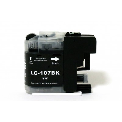 Compatible Brother LC107BK extra high yield black ink cartridge