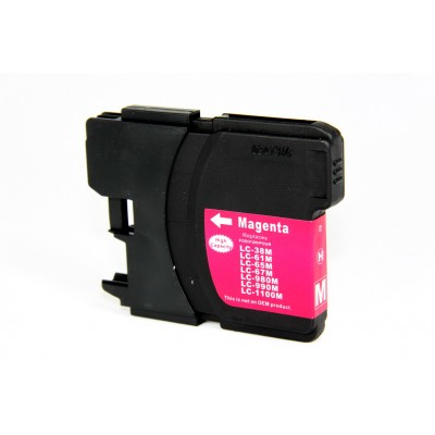 Compatible Brother LC65M magenta ink cartridge