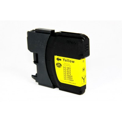 Compatible Brother LC65Y yellow ink cartridge