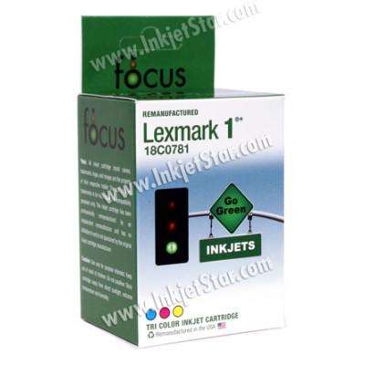Remanufactured Lexmark 18C0781 (No. 1) color ink cartridge