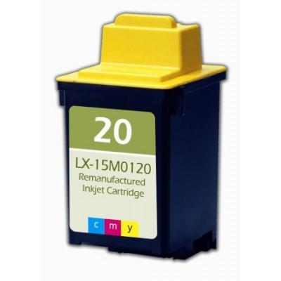 Remanufactured Lexmark 15M0120 (No. 20) color ink cartridge