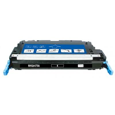 Remanufactured HP Q6470A (HP 501A) black laser toner cartridge
