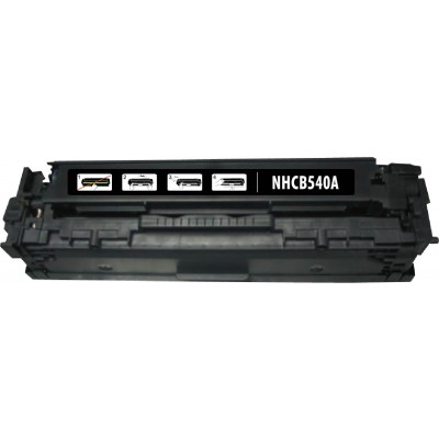 Remanufactured HP CB540A (HP 125A) black laser toner cartridge