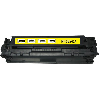 Remanufactured HP CB542A (HP 125A) yellow laser toner cartridge