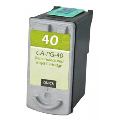 Remanufactured Canon PG-40 black ink cartridge