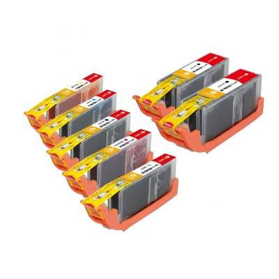 Compatible Canon PGI-250XL and CLI-251XL ink cartridges 7-piece bulk set (2 PGI-250XLBK, 1 CLI-251XLBK, 1 CLI-251XLC, 1 CLI-251XLM,  1 CLI-251XLY and 1 CLI-251XLGY)