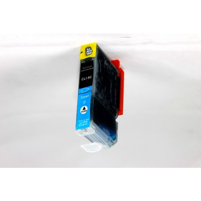 Compatible Canon PGI-9C cyan inkjet cartridge with chip