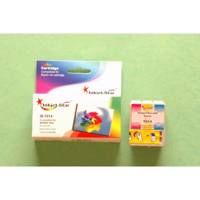 Remanufactured Epson T014201 color inkjet cartridge