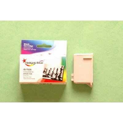 Compatible Epson T026201 black inkjet cartridge
