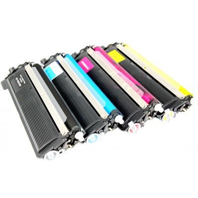 Compatible Brother TN210BK, TN210C, TN210M, TN210Y laser toner cartridges (1 black, 1 cyan, 1 magenta, 1 yellow) value pack