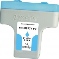 Remanufactured HP C8774WN (#02) high yield light cyan ink cartridge