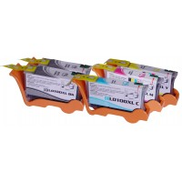 Compatible Lexmark 100XL high yield ink cartridges: 2 black, 1 cyan, 1 magenta and 1 yellow