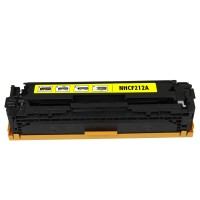 Remanufactured HP CF212A (HP 131A) yellow laser toner cartridge