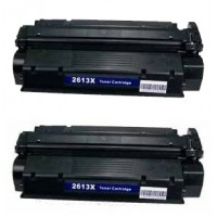 Remanufactured HP Q2613X (HP 13X) high yield black laser toner cartridge (2 pieces)