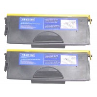 Compatible Brother TN560 high yield black laser toner cartridge - twin pack (2)