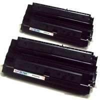 Remanufactured HP 92274A (HP 74A) black laser toner cartridge (2 pieces)