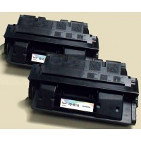 Remanufactured HP C8061X (HP 61X) high yield black laser toner cartridge (2 pieces)