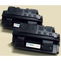 Remanufactured HP C8061X (HP 61X) high yield black laser toner cartridge (2 pieces)