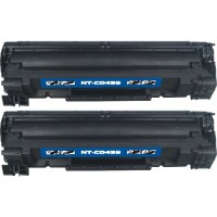 Compatible HP CB435A (HP 35A) black laser toner cartridge (2 pieces)