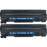Compatible HP CB436A (HP 36A) black laser toner cartridge (2 pieces)