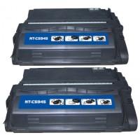 Remanufactured HP Q5945A (HP 45A) black laser toner cartridge (2 pieces)