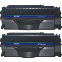Remanufactured HP Q5949A (HP 49A) black laser toner cartridge (2 pieces)